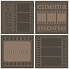 Vector clipart: Cinema icons
