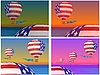 Vector clipart: balloons with U.S. flag