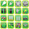 Vector clipart: Set of green icons