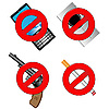 Vector clipart: Collection of prohibiting signs