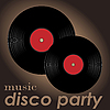 Vector clipart: Disco party