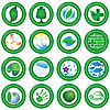 Vector clipart: Ecological icons