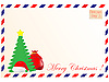 Cristmas Envelope | Stock Vector Graphics