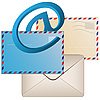 Vector clipart: Envelopes and e-mail sign