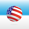 Vector clipart: U.S. Flag and ball