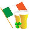 Vector clipart: Irish flag and beer