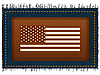 U.S. Flag and label | Stock Illustration