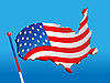 Vector clipart: Flag in form of U.S. map