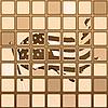 Векторный клипарт: Флаг США на мозаике