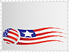 Vector clipart: Flag on postage stamp