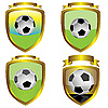 Soccer ball emblems | Stock Vector Graphics