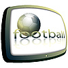 Soccer ball and TV | Stock Vector Graphics