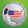 Vector clipart: soccer sign with USA map