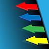 Vector clipart: Four color arrows