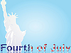 Vector clipart: Fourth July