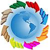 Векторный клипарт: Глобус и стрелы
