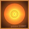 Vector clipart: Golden disc
