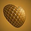 Vector clipart: Golden heart