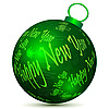 Vector clipart: Green new year ball