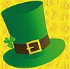 Векторный клипарт: Зеленая шляпа и монеты
