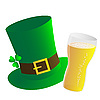 Vector clipart: Hat and beer