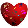 Vector clipart: Heart and print