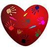 Векторный клипарт: Сердце и печать