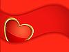 Векторный клипарт: Сердце и красной рамкой