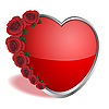 Vector clipart: Heart and roses