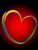 Vector clipart: Heart made of color lines