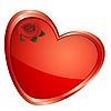 Vector clipart: Heart with rose