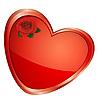 Векторный клипарт: Сердце с розой