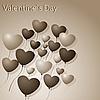 Vector clipart: Hearts-Balloons