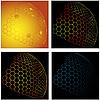 Vector clipart: Honeycombs