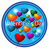 Vector clipart: Icon and hearts