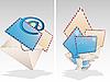 Векторный клипарт: Иконки конверты