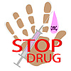 Vector clipart: Interdiction for drugs