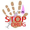 Векторный клипарт: Запрет на наркотики