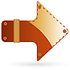 Vector clipart: Leather arrow