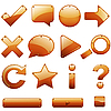 Vector clipart: Leather icons