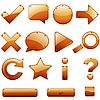 Векторный клипарт: Кожа иконки