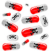 Vector clipart: harmful tablets
