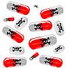 Векторный клипарт: вредные таблетки