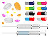Vector clipart: Medical tablets and pills