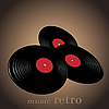Vector clipart: Music retro