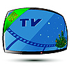 Vector clipart: New Year and TV