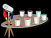 Vector clipart: Palette colors