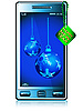 Vector clipart: Phone and Christmas balls