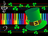 Векторный клипарт: Фортепиано клавиши и зеленая шляпа