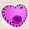Векторный клипарт: Розовый конверт